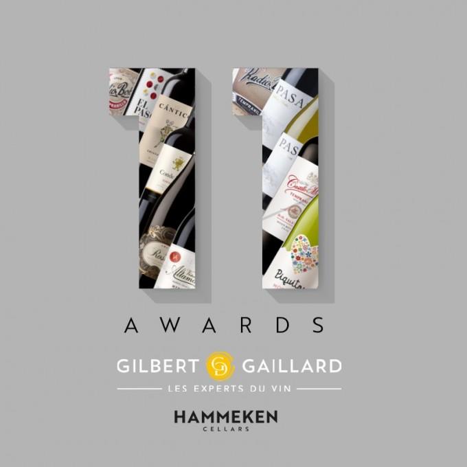 Eleven Hammeken Cellars' wines obtain +90 points in Gilbert & Gaillard