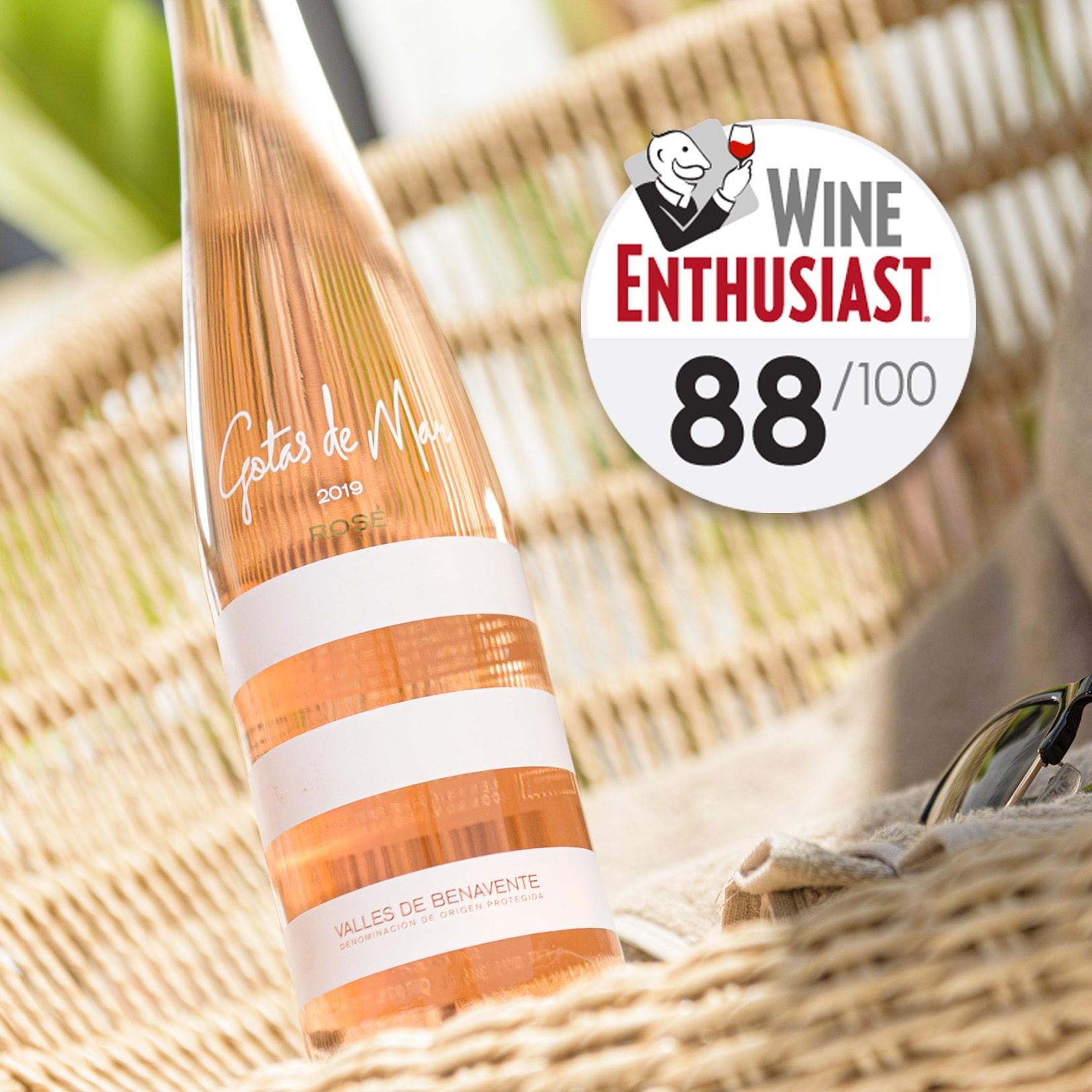 Gotas de Mar Rosé, 88 points Wine Enthusiast