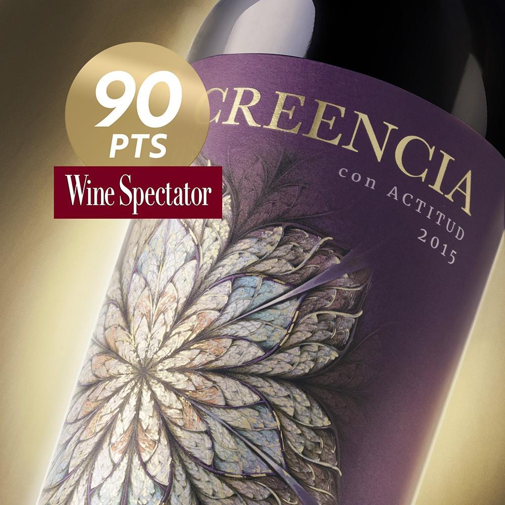 Creencia con Actitud 2015, 90 points in Wine Spectator