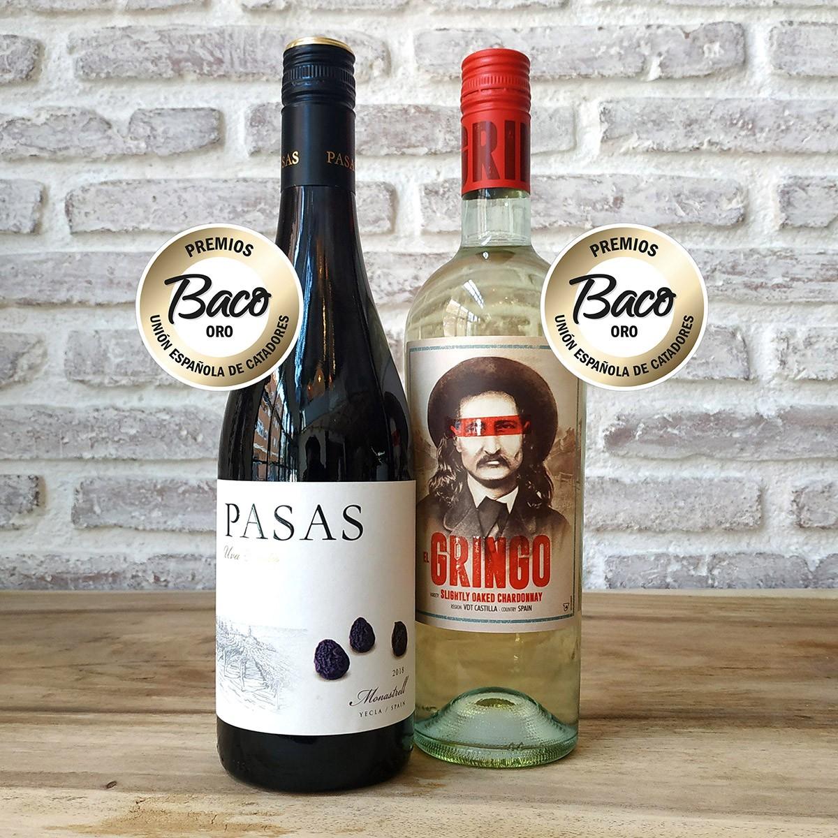 Hammeken Cellars awarded with 2 Golden Baco for El Gringo Slightly Oaked Chardonnay and Pasas Uva Tinta