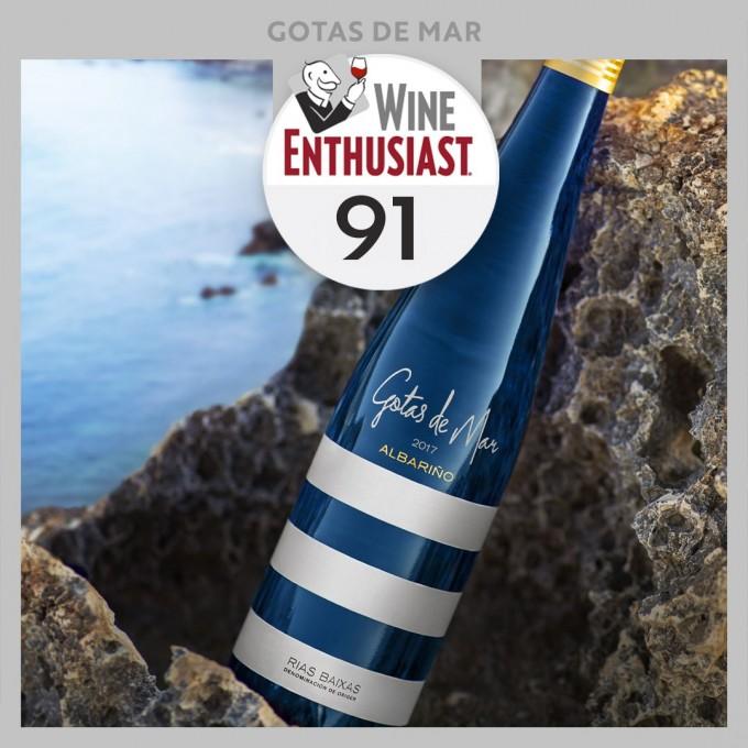 Gotas de Mar Albariño Rías Baixas - 91 Pts in Wine Enthusiast