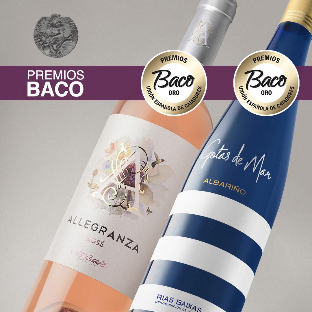 2 Golden Baco for Gotas de Mar Albariño and Allegranza Rosé